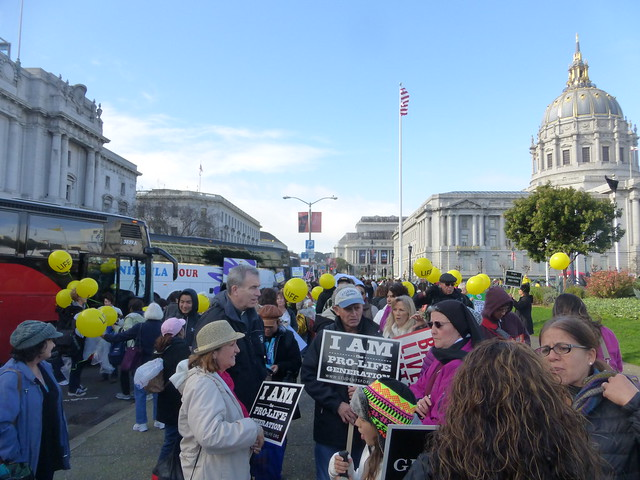 West-Coast pro life walk San Francisco