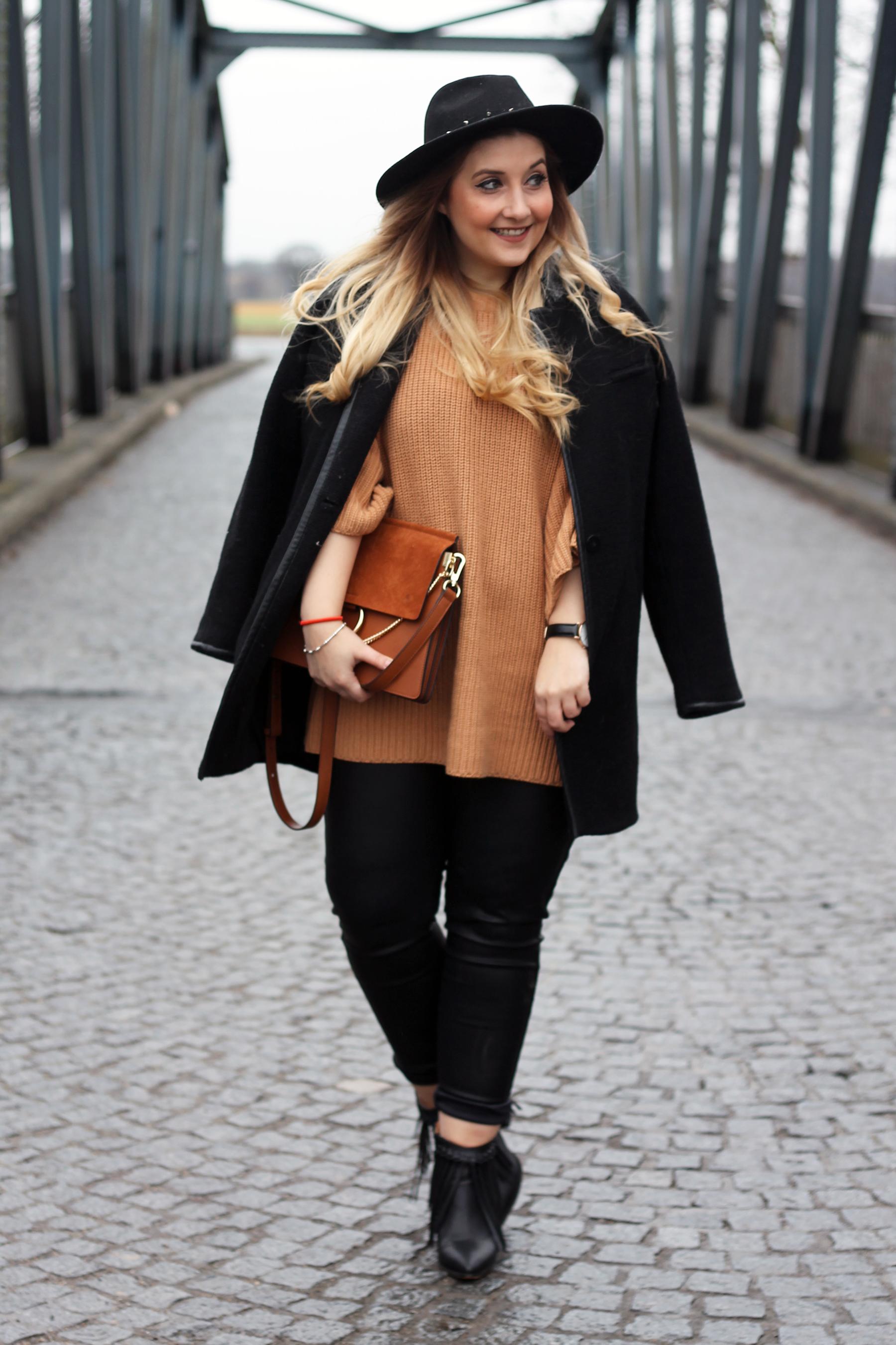 outfit-look-style-streetstyle-hut-ombre-locken-lederhose-stiefeletten-chloe-lookalike-tasche