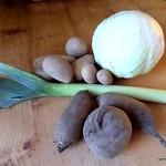 Zutaten für den vegetarischer Borschtsch