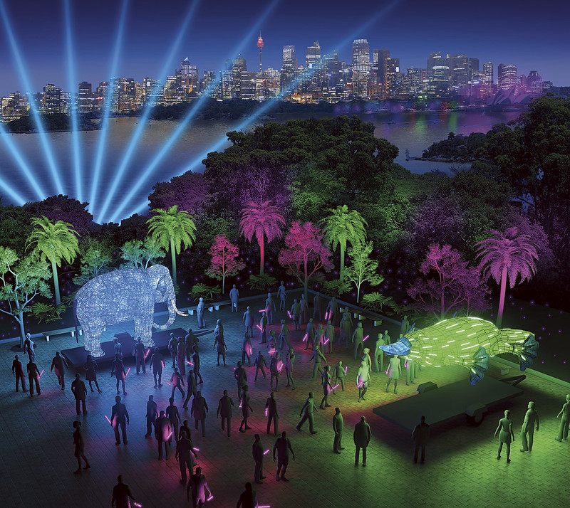 Taronga Zoo, Be the Light for the Wild - artist impression by Ample Projects