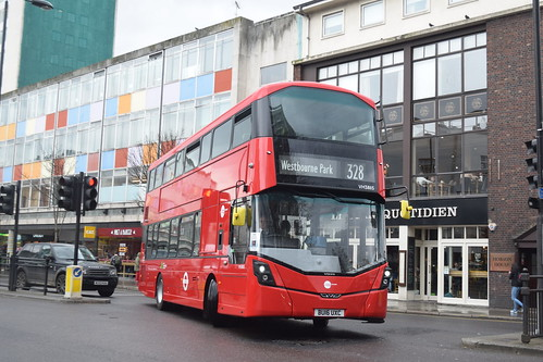 Tower Transit VH38115 on Route 328, Notting Hill Gate