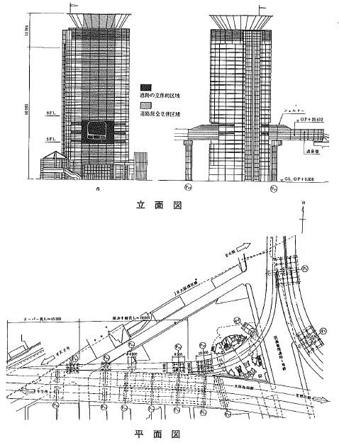 阪神高速道路梅田出口図面