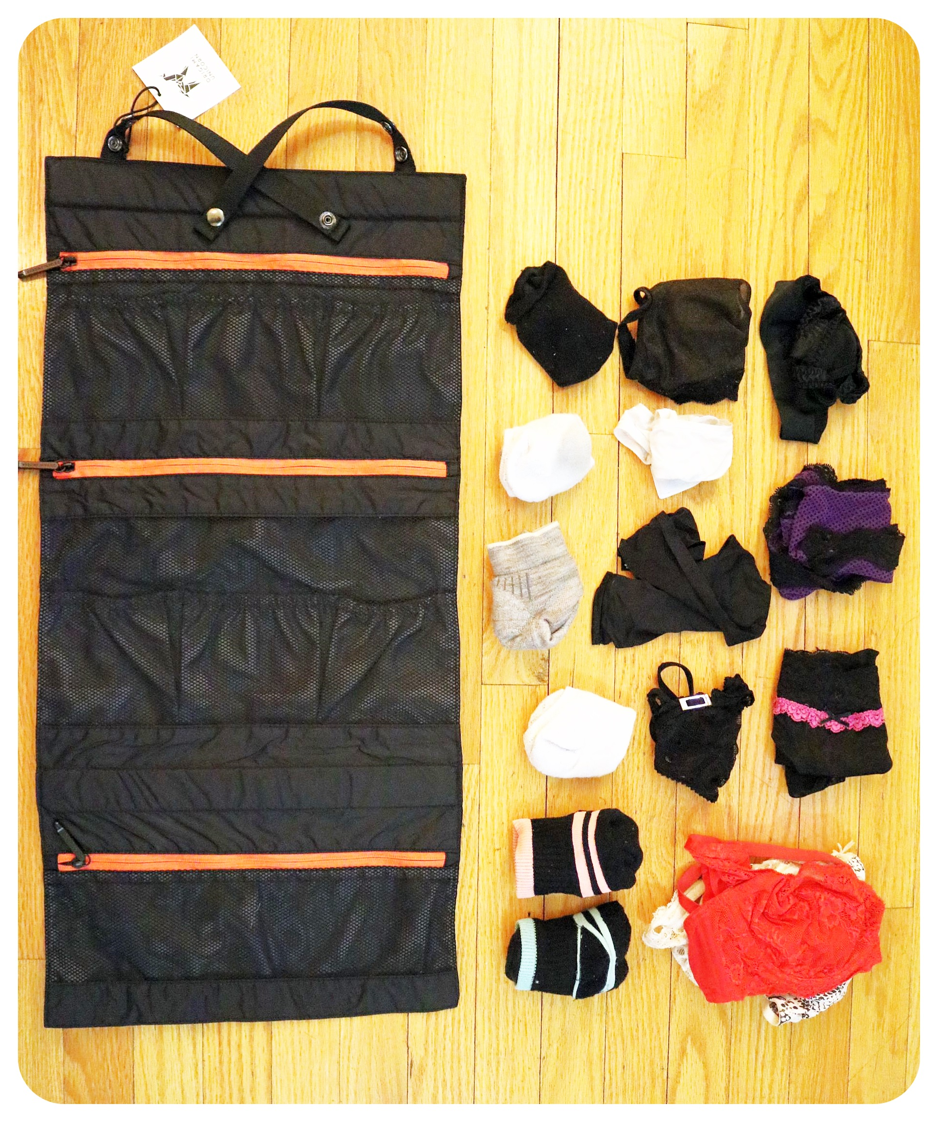 origami underwear organizer
