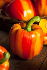 Raw Organic Striped Red Bell Pepper