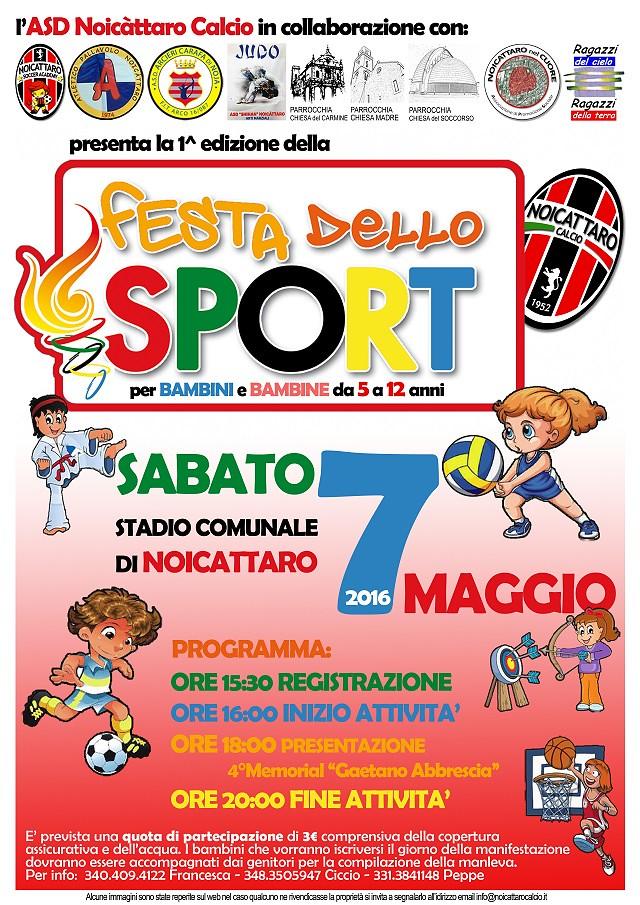 Noicattaro. Festa dello Sport 2016 intero