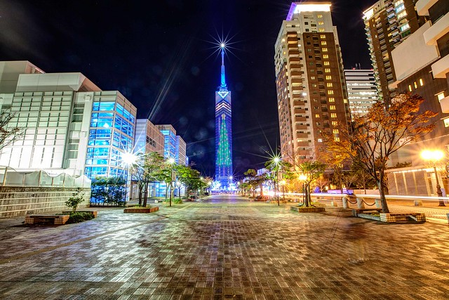 Fukuoka tower Xmas : HDR