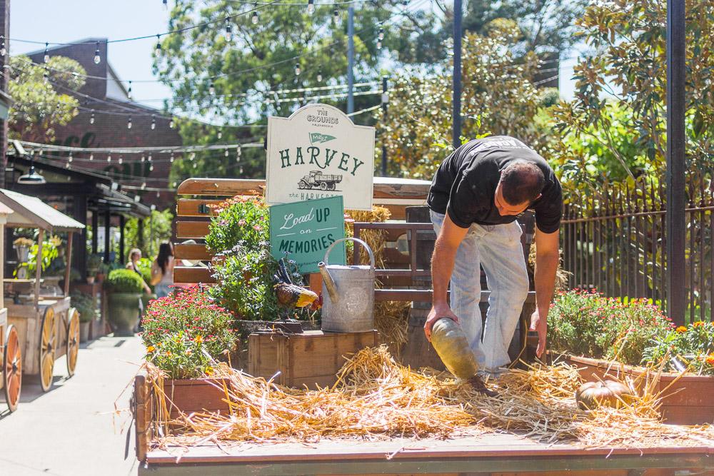 the grounds of alexandria gardener hay trailer