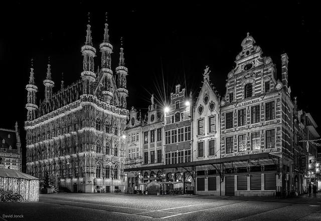 Grote Markt Leuven - B&W