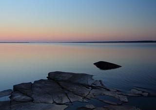 Sunset at Saimaa lake