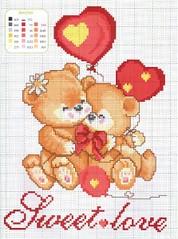 Schema Punto Croce per San Valentino