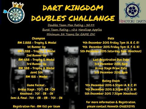 Dart Kingdom Doubles Challenge 2015.