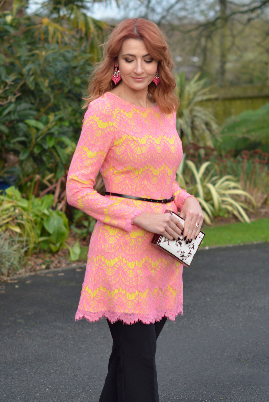 An Award-Winning Pink &amp Yellow Lace Dress Over Cropped Trousers ...