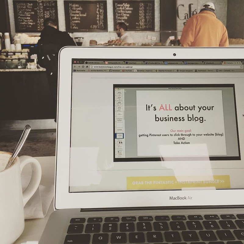 A #latergram from last week - Watching a webinar and drinking a mocha on my lunch break. Always working on a little something ? #entrepreneur #startup #coffeeshop #beingboss #thehustleisreal #coffee #igersottawa #blogger #twitter