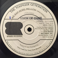 THE YOUNGER GENERATION:WE RAP MORE MELLOW(LABEL SIDE-A)