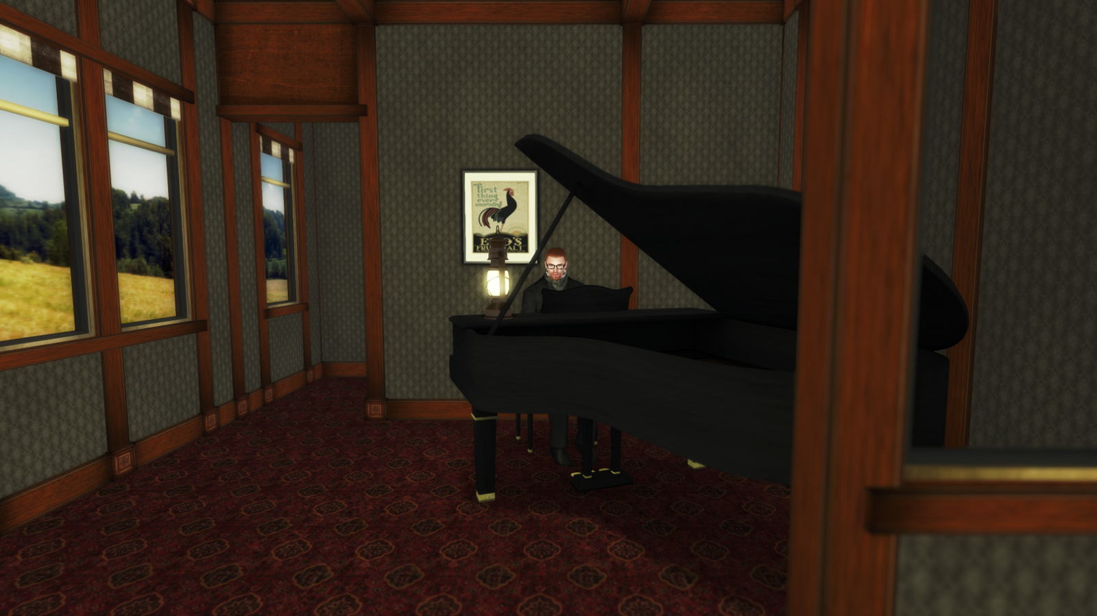 Ricco plays the piano