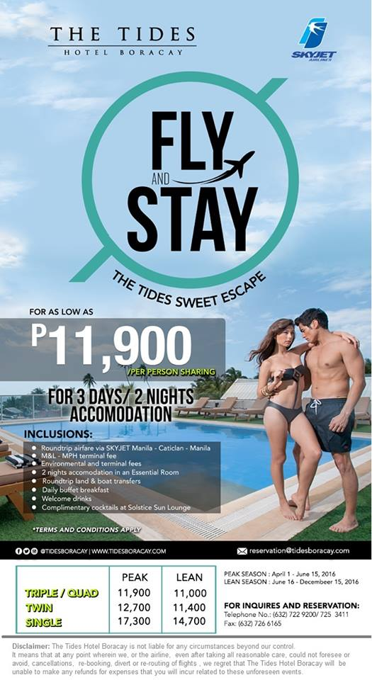 Tides Hotel SkyJet Airlines