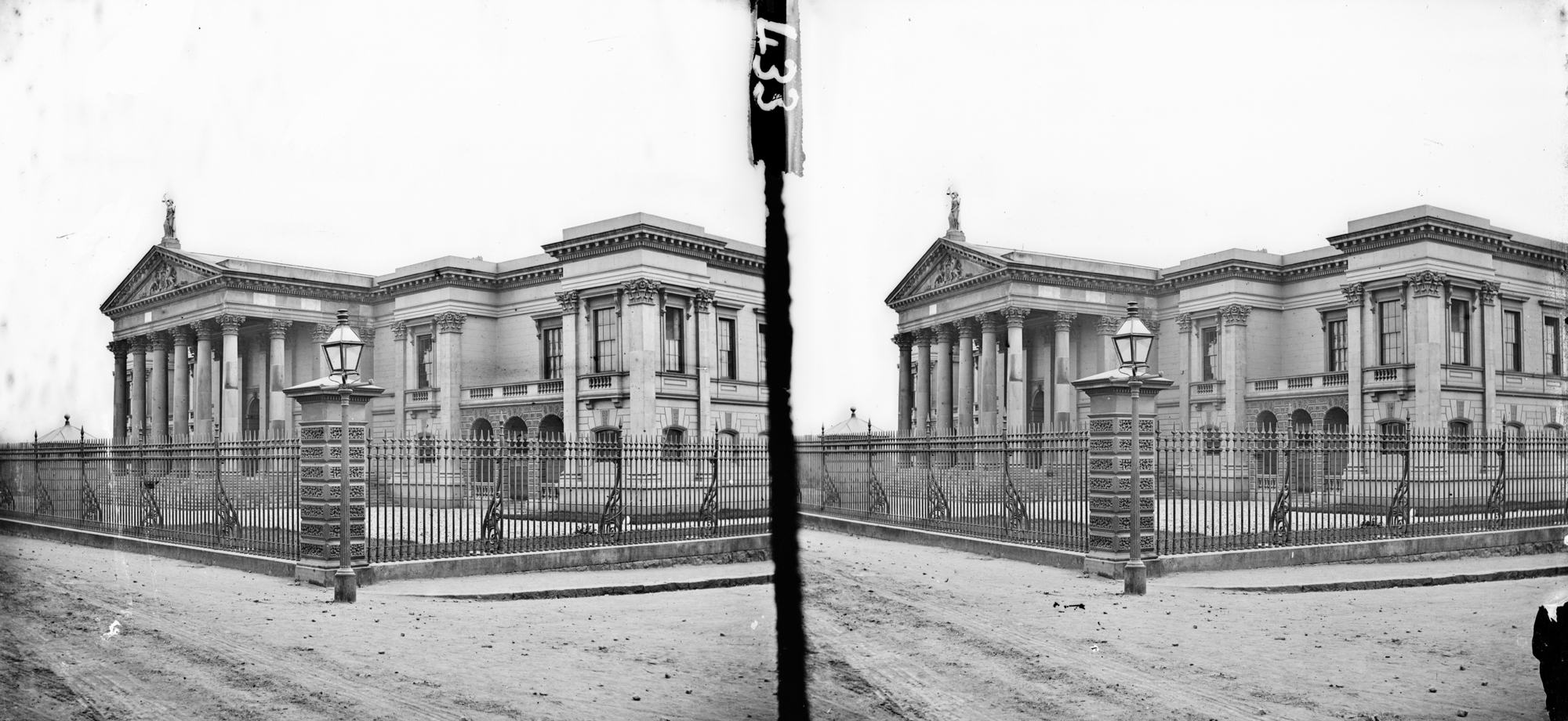 Two-storey classical style modern building - is Crumlin Road Courthouse in Belfast