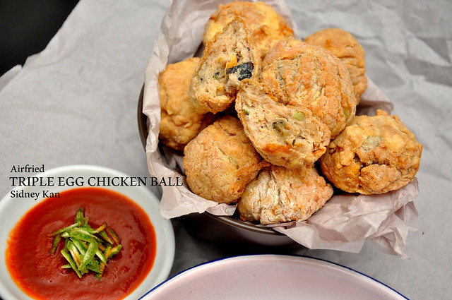 Triple Egg Chicken Ball with Philips Airfryer2