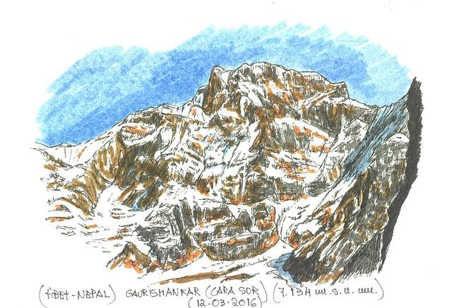 Gaurishankar (cara sur) (7.134 m.s.n.m.)