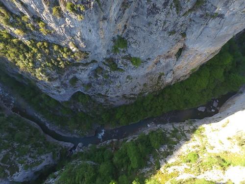 Szalmafalva kanyonja felülről