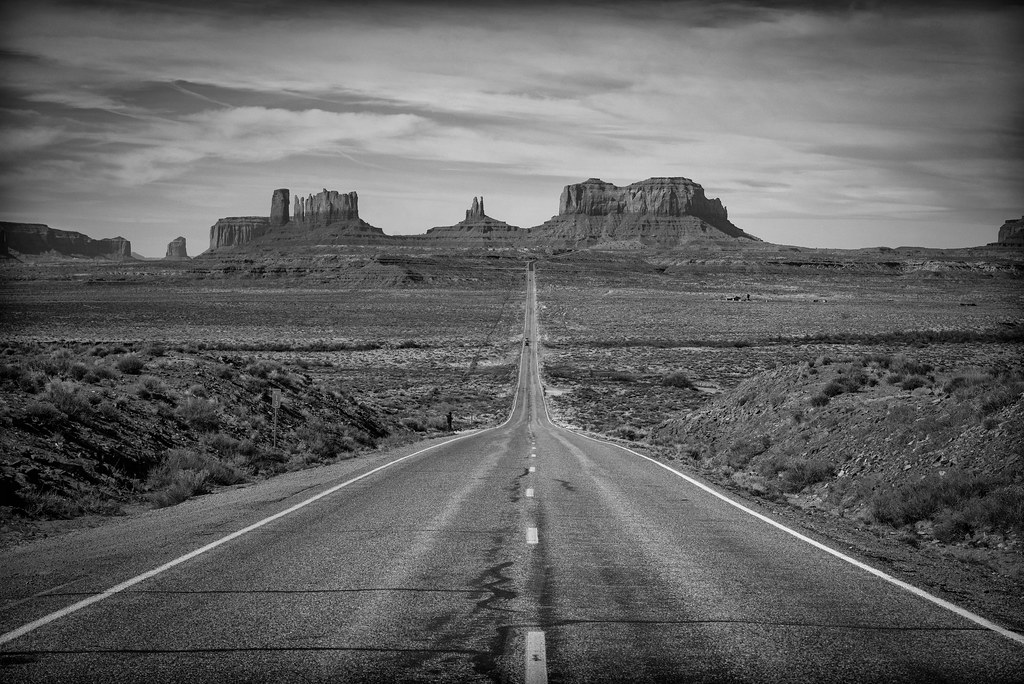 Approaching Monument Valley on Highway 163, Utah