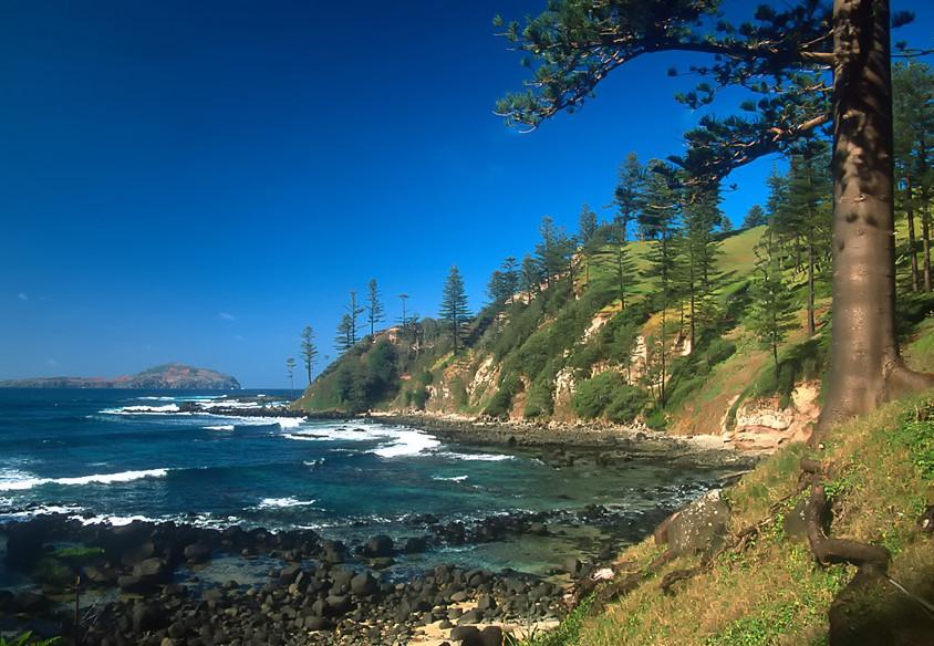 Bomboras, Norfolk Island. Image credit Steve Daggar