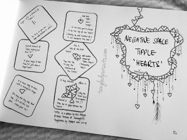"Negative Space Tipple ""hearts"""
