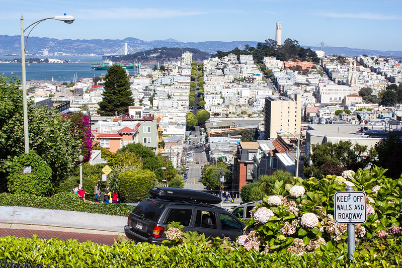 San Francisco view from Lombard Street