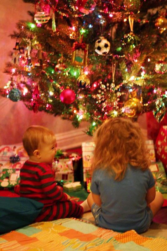Looking at the presents