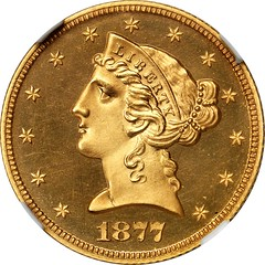 1877 Liberty Half Eagle obverse