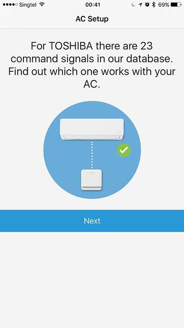 tado iOS App - AC Setup - Command Signals
