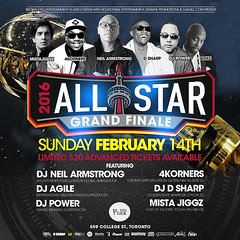 2/14 - SUN - 2016 NBA All Star Grand Finale at BLND TGER T.DOT