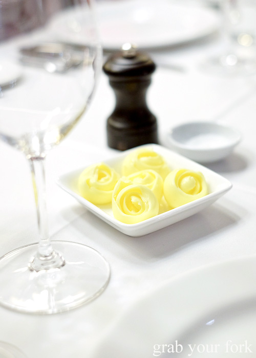 Butter roses at the Mayfair Hotel Mayflower Restaurant, Adelaide