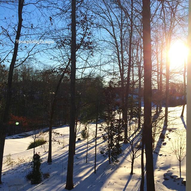 Sunrise after Winter Storm - Housepitality Designs