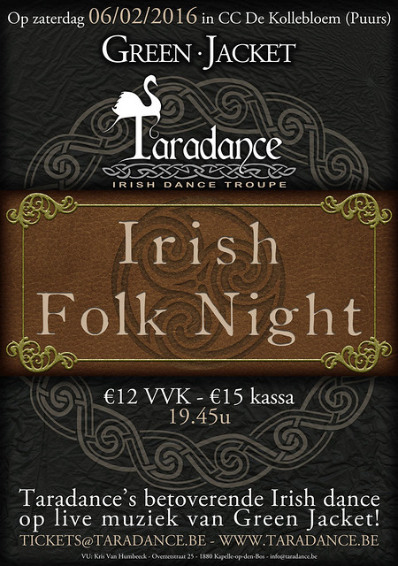 Taradance Green Jacket Irish Folk Night