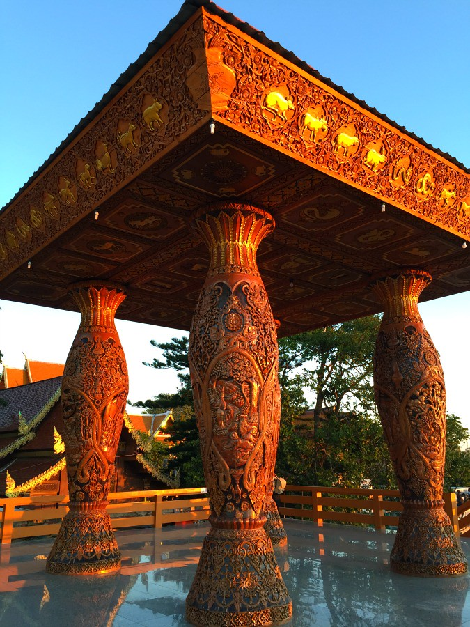 Doi Suthep Carved Wooden Structure