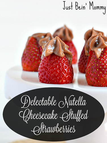 Nutella Cheesecake Stuffed Strawberries