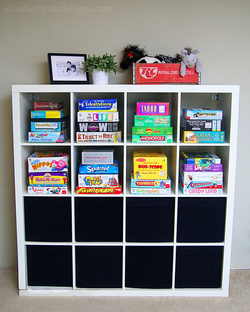 Playroom Storage Expedit Before
