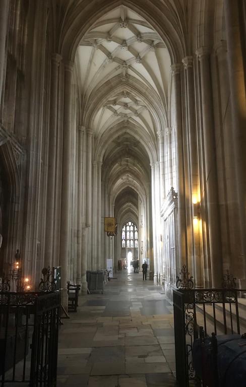 Cathedral aisle Winchester Circular walk