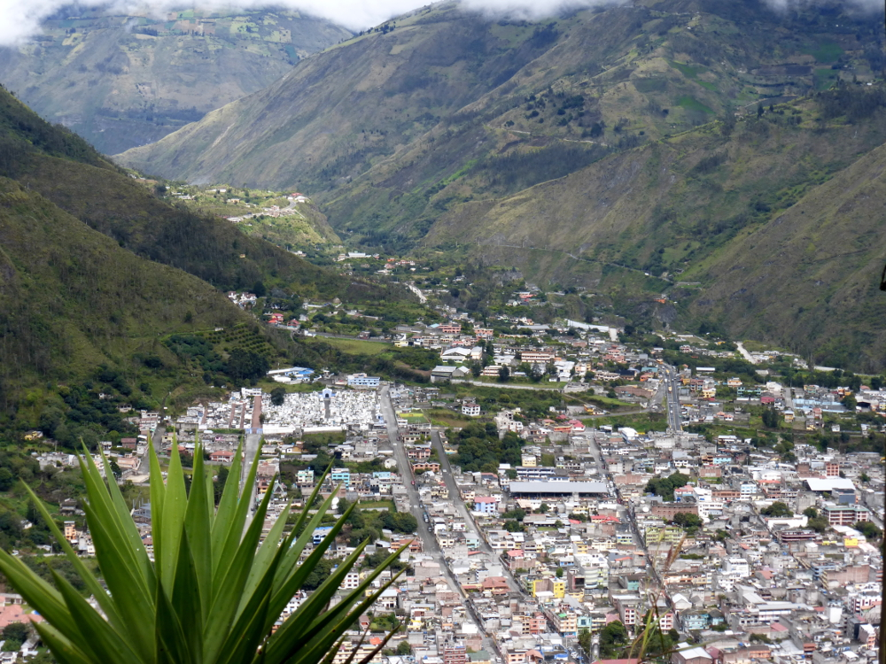 Banos Ecuador from above