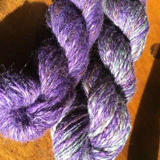 Purple Majesty handspun (fiber by Kitty Mine Crafts)