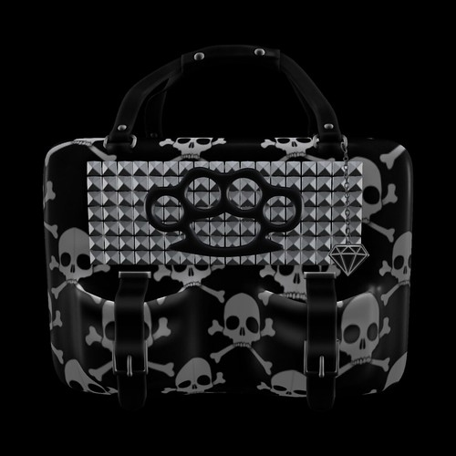 GIFT!!! *P* MESH Knuckle Purse ~Skulls~