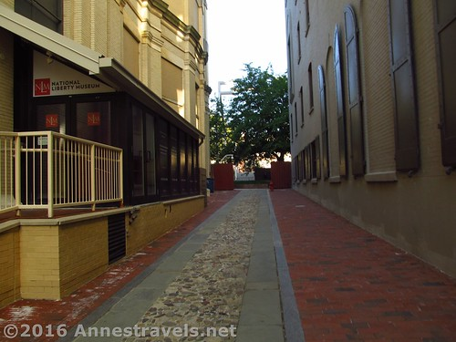 Alley to Franklin Court from Chestnut Street, Independence National Historic Site, Philadelphia, Pennsylvania