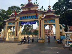 Entry gate to the Cao Dai Holy See in Tay Ninh