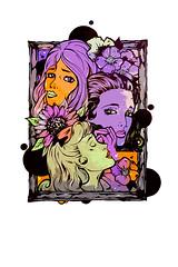 3 Ladies- street art in Bristol