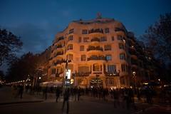 Barcelona, La Pedrera - Blue Hour