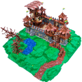 [Gunman Bricks]:LEGO Castle MOC Highlights - Kastra Gatehouse 24987877289_b4fcde50df_o
