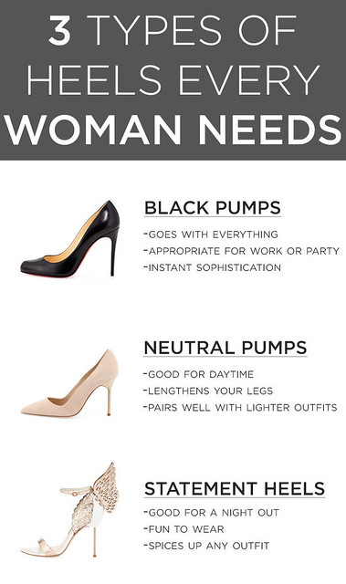 3 types of Heels for women