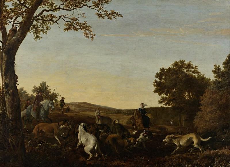Ludolf de Jongh - De vossenjacht (c.1660)