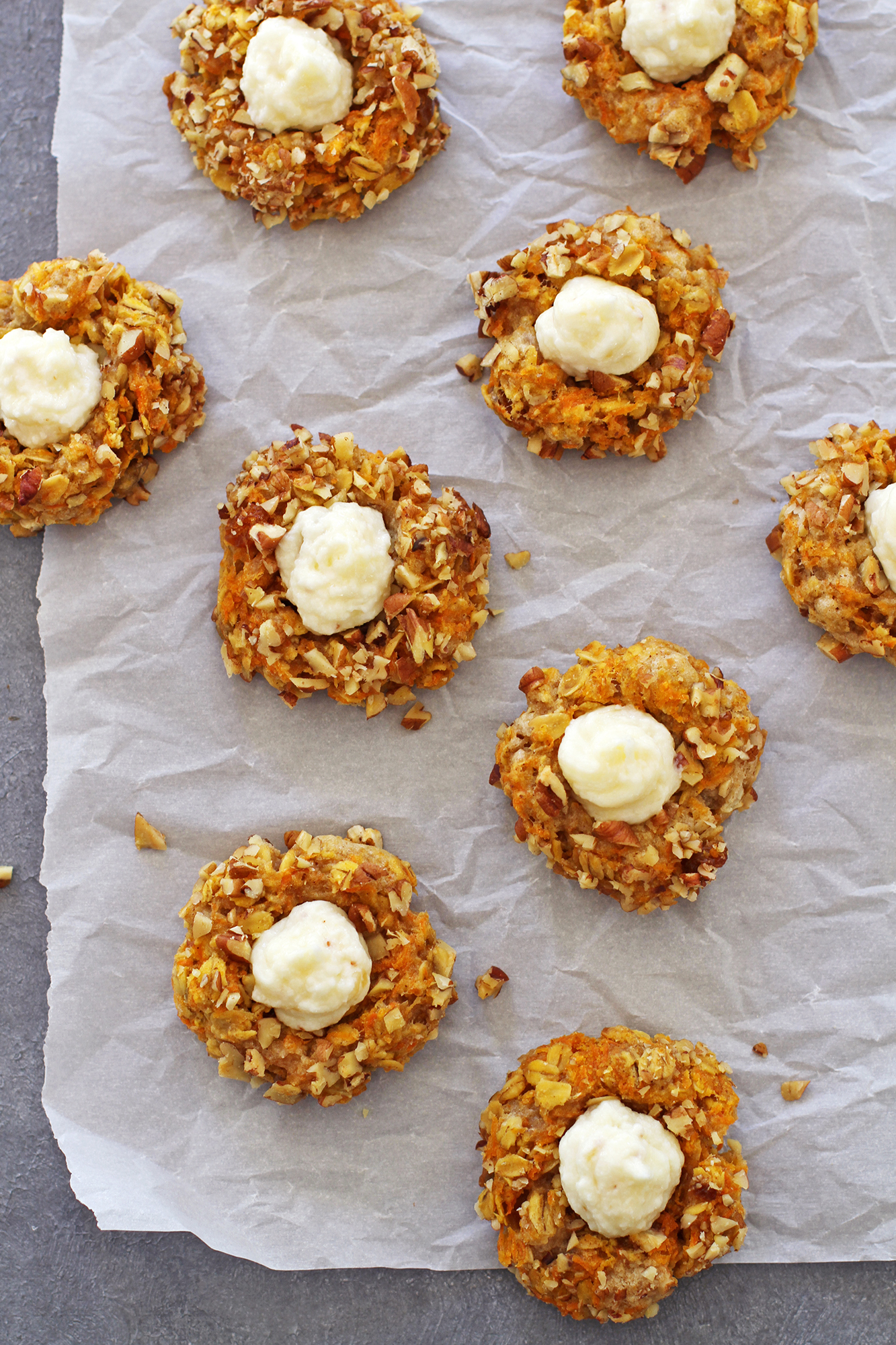 Carrot Cake Thumbprint Cookies | girlversusdough.com @girlversusdough